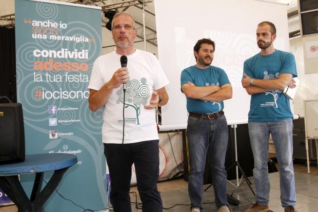 Il direttore Mauro Colombo con Livio Lazzari e Davide Ielmini