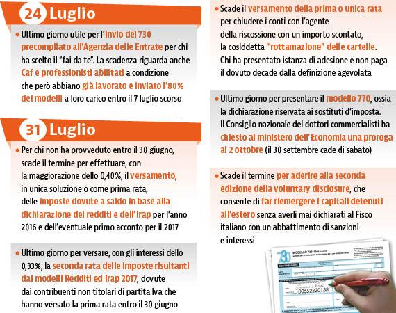 187 Volte Fisco: è Il Mese Nero Delle Scadenze, Mettiamole In Agenda