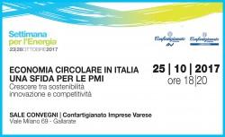 Economia circolare in Italia: una sfida per le Pmi @ Sale Convegni Confartigianato Imprese | Gallarate | Lombardia | Italia